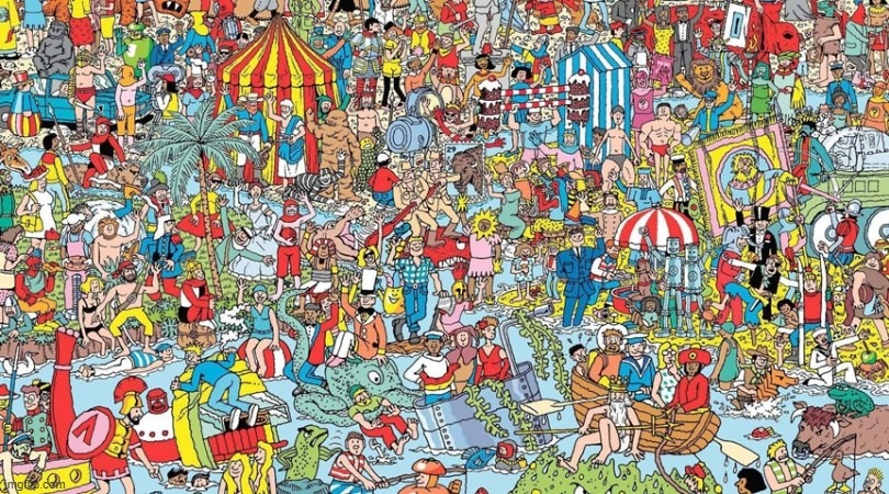 if you find waldo upvote | image tagged in where's waldo | made w/ Imgflip meme maker