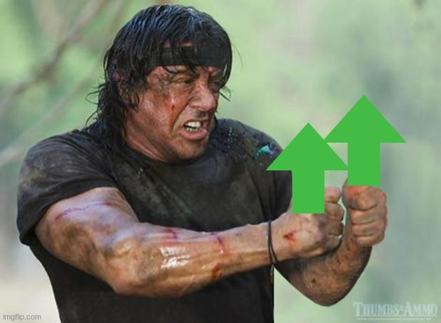 image tagged in thumbs up rambo | made w/ Imgflip meme maker