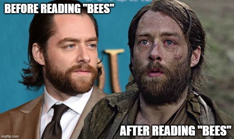 "Before reading Bees |  BEFORE READING ""BEES""; AFTER READING ""BEES"" 