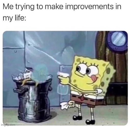 reposted from memedroid's one and only memesimp | image tagged in spongebob,hopeless,yeet,life,repost | made w/ Imgflip meme maker