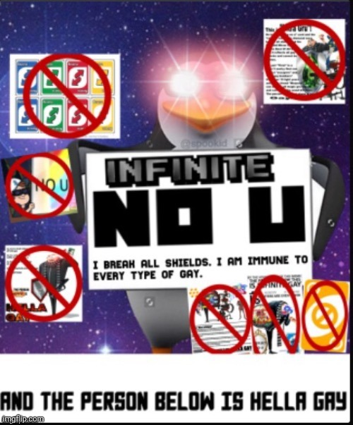 image tagged in infinite no u | made w/ Imgflip meme maker