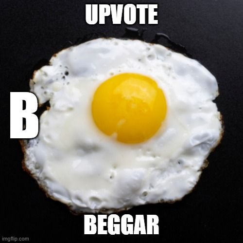Eggs | UPVOTE BEGGAR B | image tagged in eggs | made w/ Imgflip meme maker