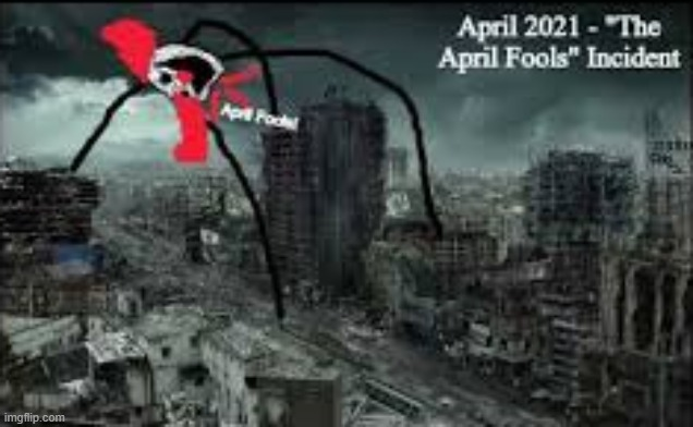 "April 1st 2021. ""April Fools"" Incindent. Those who enter the city are always found as a skeleton with a ""Bang"" flag on them. 