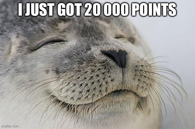 BOIIIIIIIIIIIIiiIIIIIIIIIIIIIIIIIiii |  I JUST GOT 20 000 POINTS | image tagged in memes,satisfied seal | made w/ Imgflip meme maker