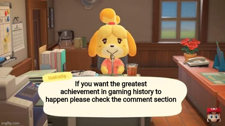 If you sign the petition doom players everywhere will be happy. |  If you want the greatest achievement in gaming history to happen please check the comment section | image tagged in isabelle animal crossing announcement,doom,oh wow are you actually reading these tags | made w/ Imgflip meme maker