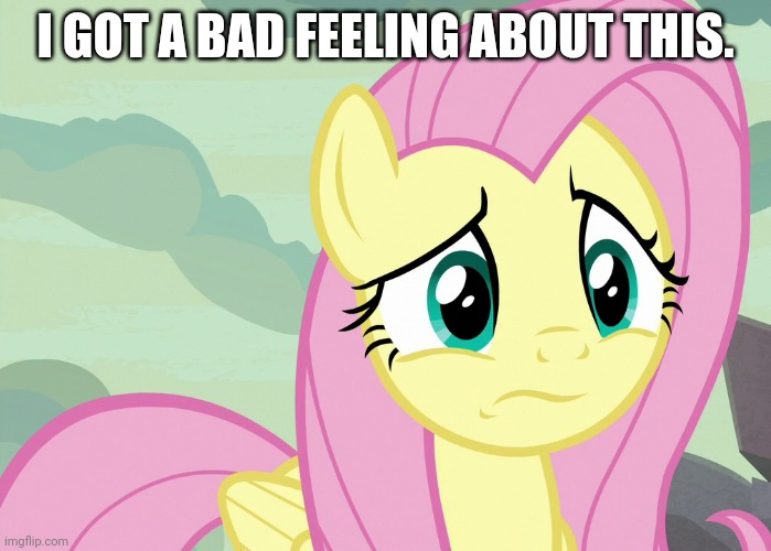 Fluttershy Was Puzzled (MLP) | I GOT A BAD FEELING ABOUT THIS. | image tagged in fluttershy was puzzled mlp | made w/ Imgflip meme maker