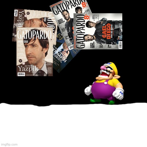 Wario gets crushed by his 6 ton dirty magazines | image tagged in memes,blank transparent square,wario,wario dies,dead wario,magazines | made w/ Imgflip meme maker