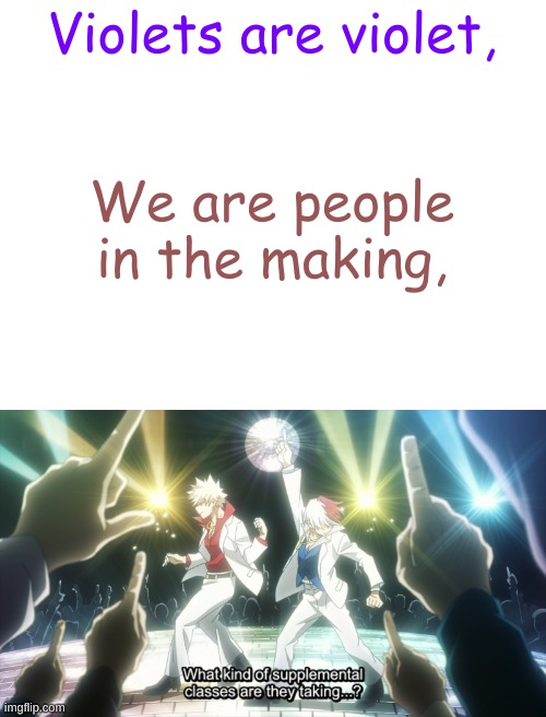 This is the best scene ever in MHA, you can't change my mind |  Violets are violet, We are people in the making, | image tagged in blank white template,roses are red,mha,my hero academia,todoroki,bakugo | made w/ Imgflip meme maker