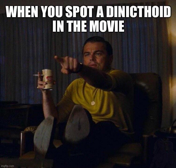 When you spot a dinicthoid in A1 | image tagged in avatar,pandora,science fiction,animals,aliens,leonardo dicaprio pointing | made w/ Imgflip meme maker