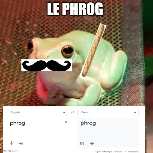 frog |  LE PHROG | image tagged in frog | made w/ Imgflip meme maker