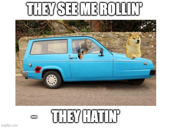 Idk why i made this |  THEY SEE ME ROLLIN'; THEY HATIN'; ADIDAS | image tagged in memes | made w/ Imgflip meme maker