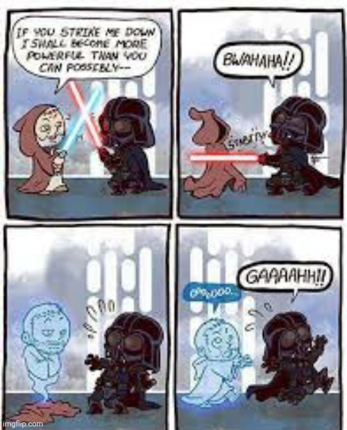 If Star Wars happened on Halloween | image tagged in comics/cartoons,funny,star wars,ghosts,spooky | made w/ Imgflip meme maker