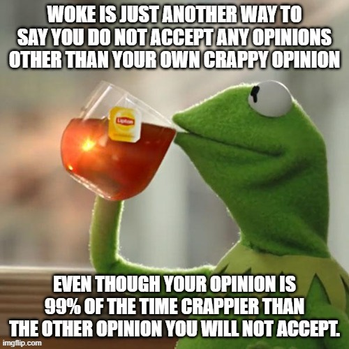 We got your woke right here.... | image tagged in kermit the frog,woke | made w/ Imgflip meme maker