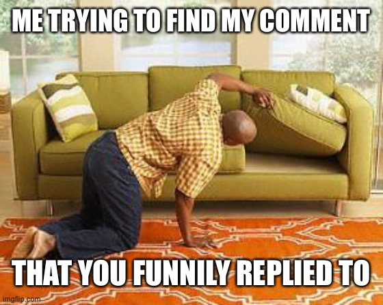 ME TRYING TO FIND MY COMMENT THAT YOU FUNNILY REPLIED TO | image tagged in searching | made w/ Imgflip meme maker