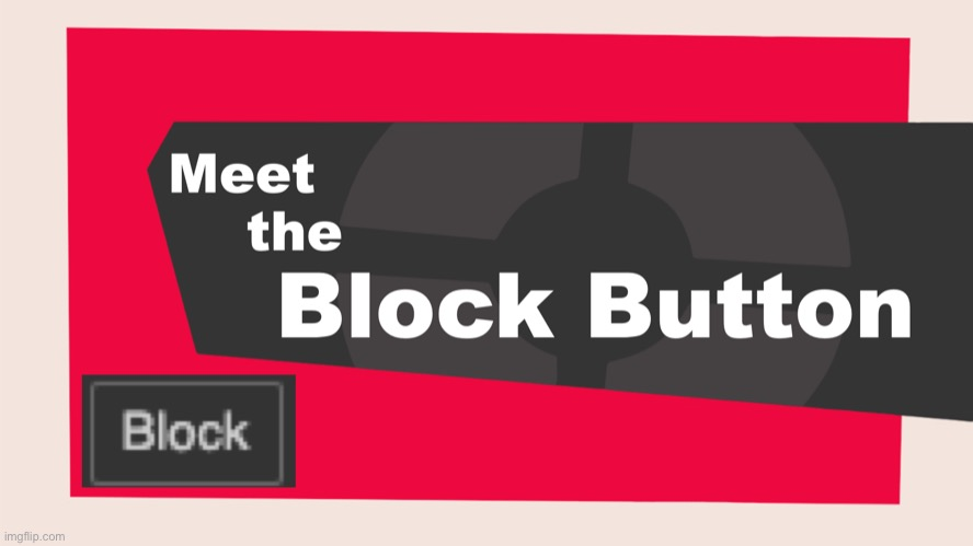 image tagged in meet the block button | made w/ Imgflip meme maker