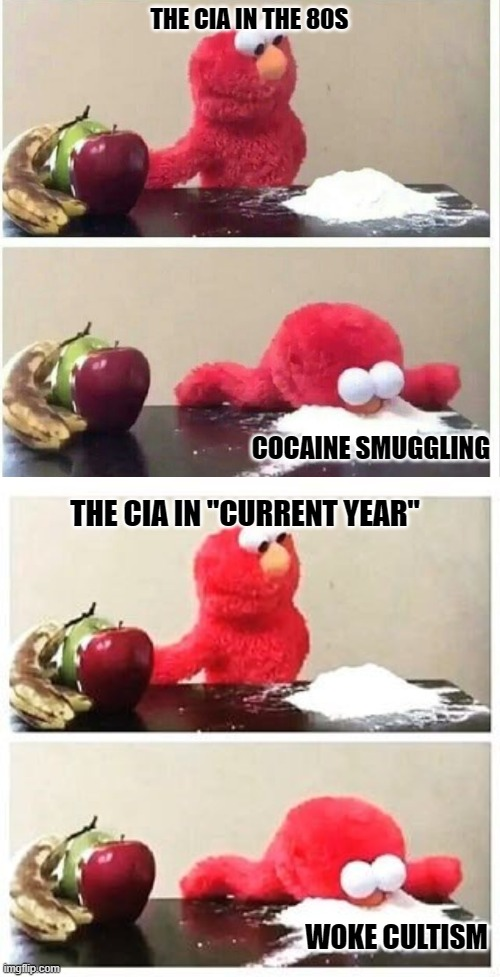 "Wokecaine |  THE CIA IN THE 80S; COCAINE SMUGGLING; THE CIA IN ""CURRENT YEAR""; WOKE CULTISM 