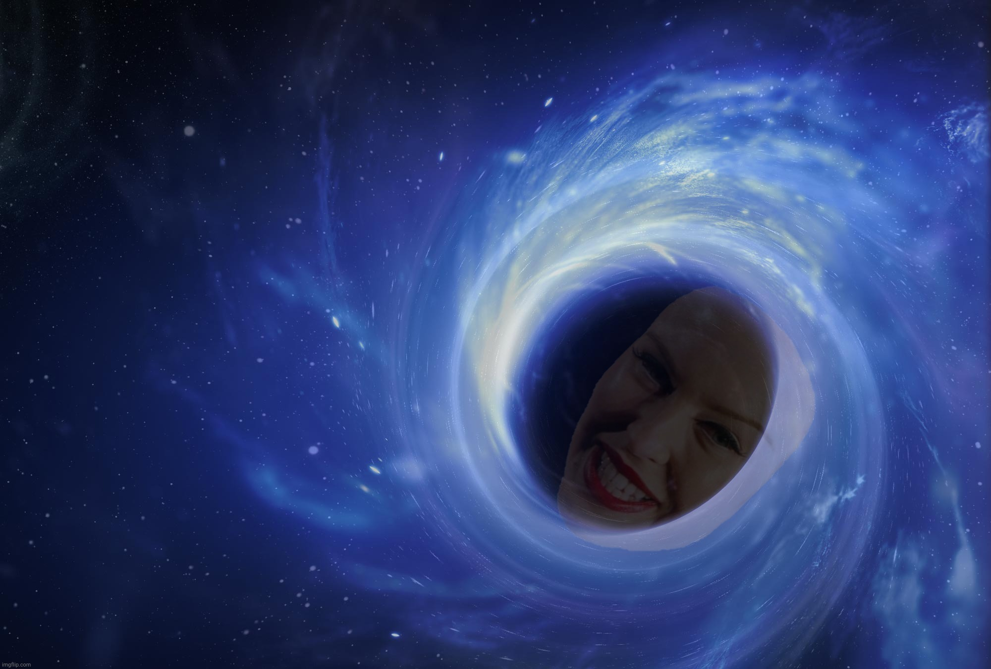 In space, no one can hear your screams induced by 'Mutton' Minogue's latest,,, | image tagged in black hole,kylie minogue,kylie botox mask,kylieminoguesucks,crossover templates,the black hit of space | made w/ Imgflip meme maker