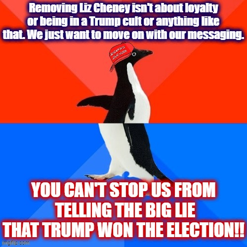 "The official GOP party-line is that removing Liz Cheney is about ""moving on."" I don't think that's what they're actually doing. 