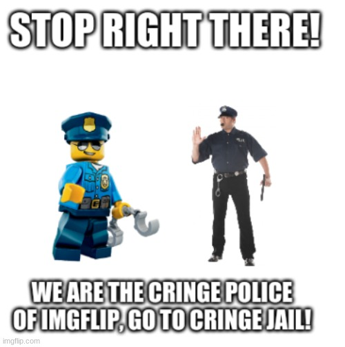 image tagged in the cringe police | made w/ Imgflip meme maker