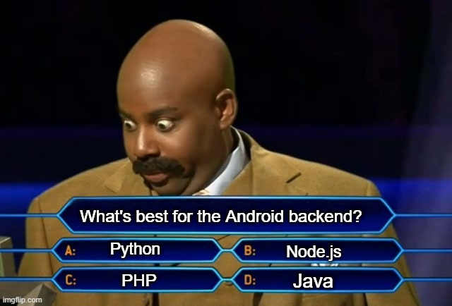 android app with node js backend