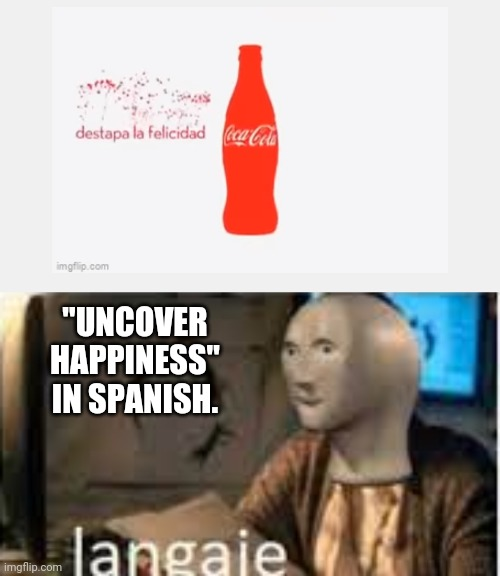 """UNCOVER HAPPINESS"" IN SPANISH. 