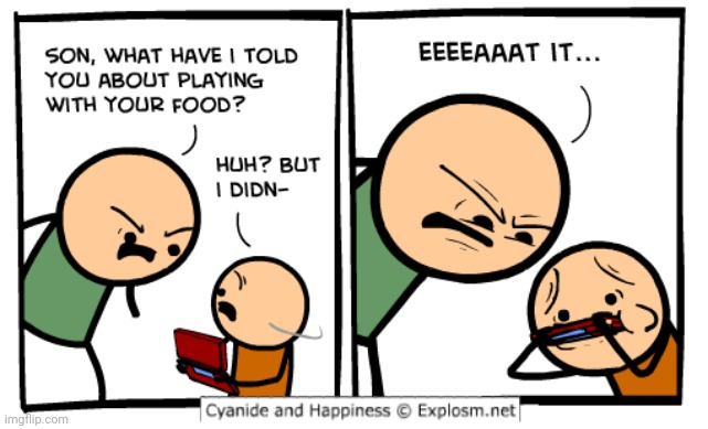 Playing | image tagged in comics/cartoons,comics,comic,cyanide and happiness,cyanide | made w/ Imgflip meme maker