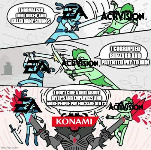 Ea Vs Activision Vs Konami Imgflip