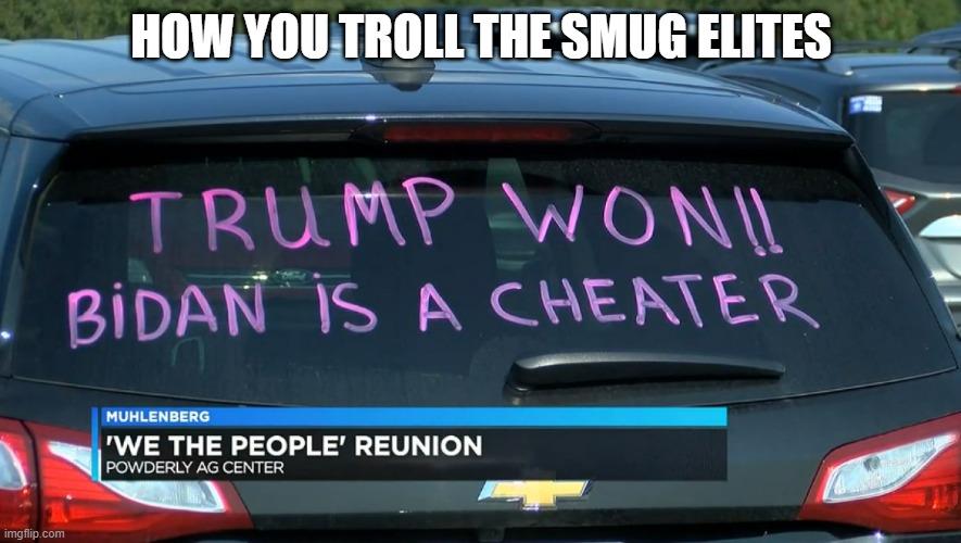 trolling the elits
