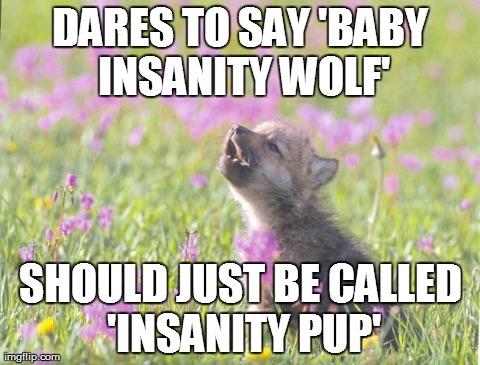 Does math homework in pen  Baby Insanity Wolf  Meme