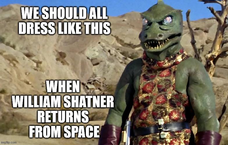 Shatner Gorn to Space - Imgflip