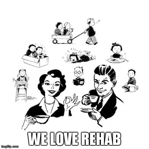 Big Family Comeback | WE LOVE REHAB | image tagged in memes,big family comeback | made w/ Imgflip meme maker