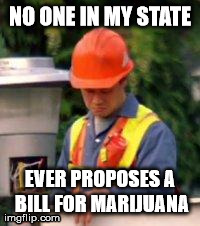 NO ONE IN MY STATE EVER PROPOSES A BILL FOR MARIJUANA | image tagged in trident layers | made w/ Imgflip meme maker