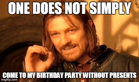 Bildergebnis für Birthday Party Memes