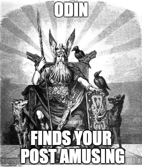 6nejd image tagged in odin, huginn and muninn imgflip,Odin Meme
