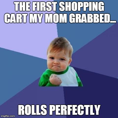 walmart shopping cart meme