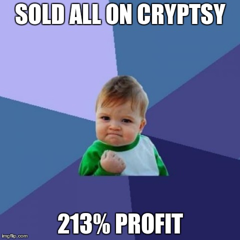 Sold all on Cryptsy - 213% profit