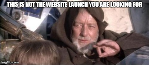 These Aren't The Droids You Were Looking For | THIS IS NOT THE WEBSITE LAUNCH YOU ARE LOOKING FOR | image tagged in memes,these arent the droids you were looking for | made w/ Imgflip meme maker