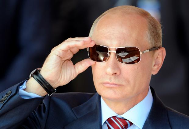Putin with sunglasses Blank Meme Template