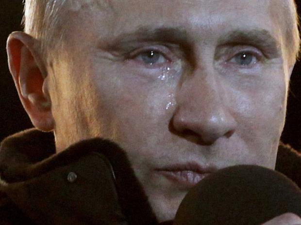 High Quality Putin Crying Blank Meme Template