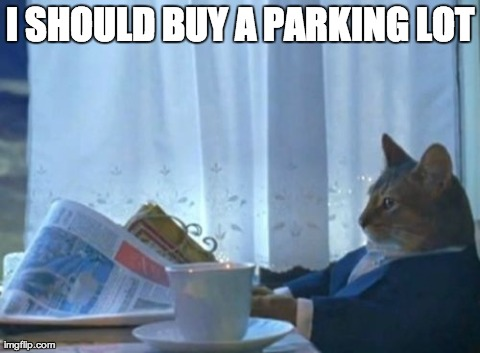 I Should Buy A Boat Cat Meme | I SHOULD BUY A PARKING LOT | image tagged in memes,i should buy a boat cat | made w/ Imgflip meme maker