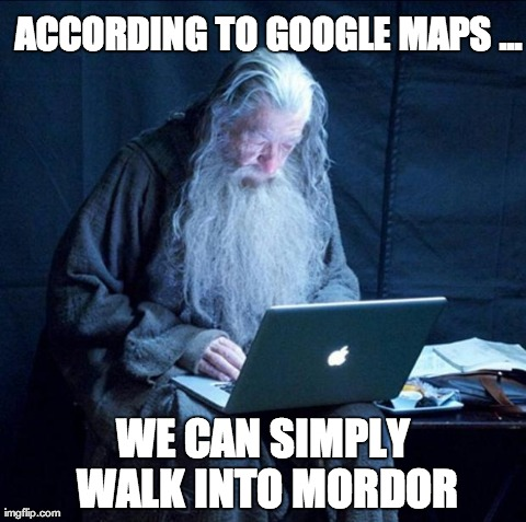 Image result for google map walk meme