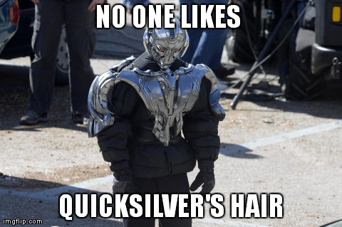 NO ONE LIKES  QUICKSILVER'S HAIR | made w/ Imgflip meme maker