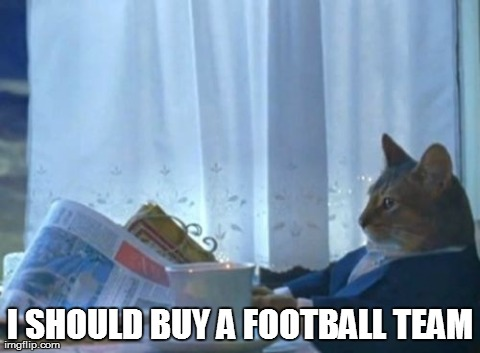 I Should Buy A Boat Cat Meme | I SHOULD BUY A FOOTBALL TEAM | image tagged in memes,i should buy a boat cat,AdviceAnimals | made w/ Imgflip meme maker