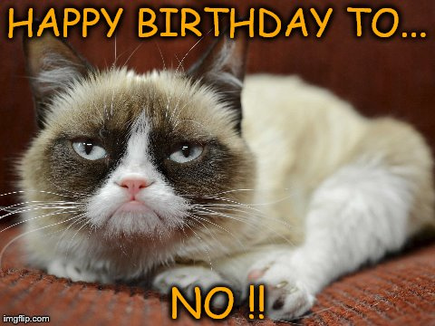 Happy Birthday to Grumpy Cat. - Imgflip