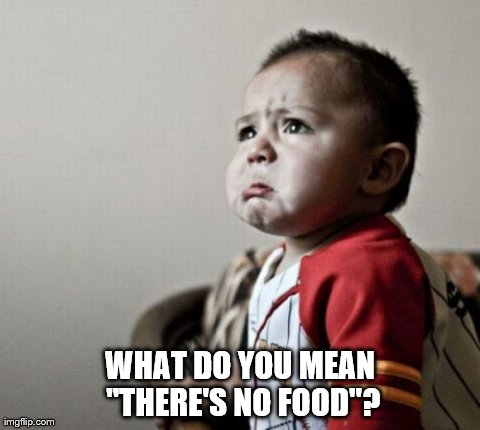"What? | WHAT DO YOU MEAN ""THERE'S NO FOOD""? 