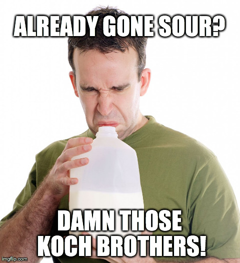 ALREADY GONE SOUR? DAMN THOSE KOCH BROTHERS! | made w/ Imgflip meme maker