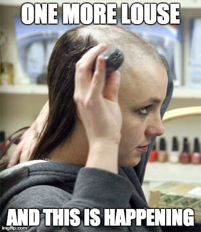 What Lice Does to Our Psyche | ONE MORE LOUSE AND THIS IS HAPPENING | made w/ Imgflip meme maker