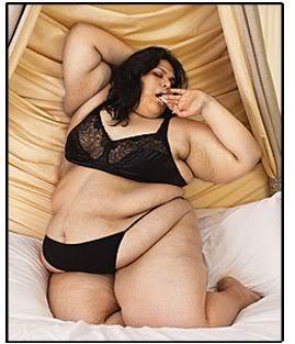 ugly fat black woman in bikini