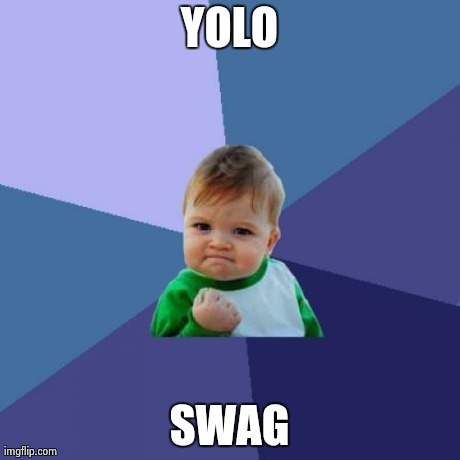 Success Kid Meme | YOLO SWAG | image tagged in memes,success kid | made w/ Imgflip meme maker