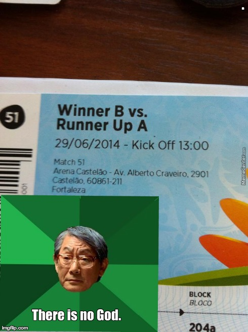 Heartbroken Asian Dad | . | image tagged in world cup,asian father,ticket,loser,winner,a | made w/ Imgflip meme maker